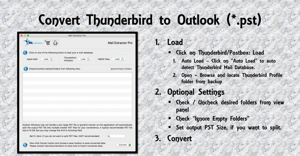 Thunderbird Export to Outlook PST